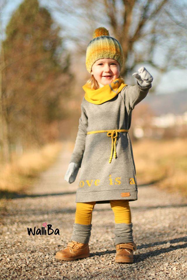 Fadenkäfer Papierschnittmuster Kleid Nike für Mädchen