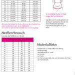 Maßtabelle und Stoffverbrauch Jogginghose Damen