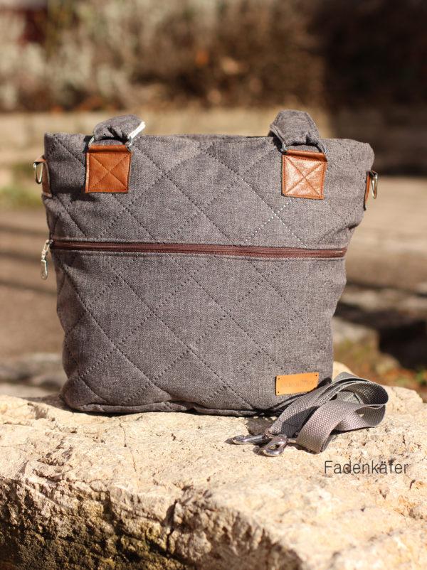 Tasche grau mit Logo
