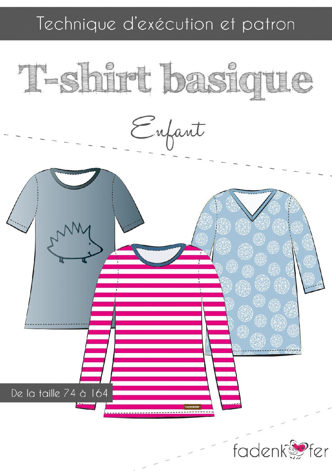 Basicshirt Kinder Kurzanleitung-franz-Titel